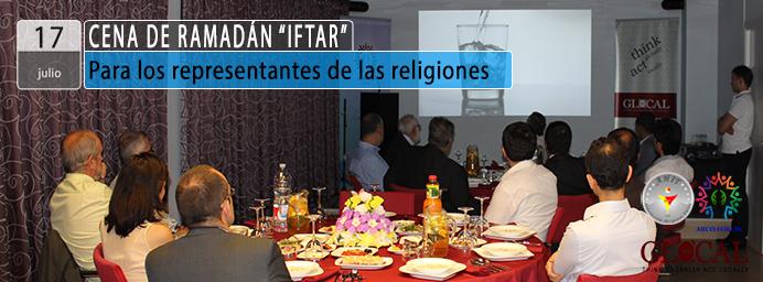 Cena de Ramadán IFTAR Representantes religiosos
