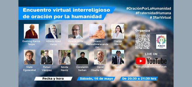 Encuentro virtual interreligioso de oración por la humanidad
