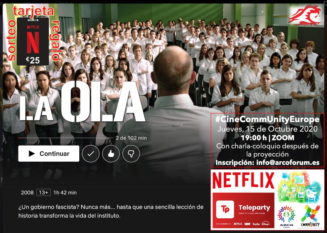 """CineCommUnity: Proyección De La Película """"La Ola"""""""